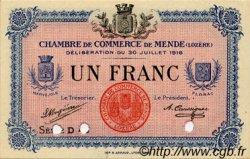 1 Franc FRANCE régionalisme et divers Mende 1918 JP.081.08 SPL à NEUF