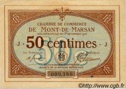 50 Centimes FRANCE régionalisme et divers MONT-DE-MARSAN 1914 JP.082.01 TTB à SUP