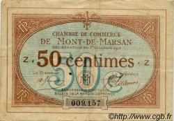 50 Centimes FRANCE régionalisme et divers Mont-De-Marsan 1914 JP.082.01 TB