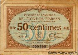 50 Centimes FRANCE régionalisme et divers MONT-DE-MARSAN 1914 JP.082.03 TB