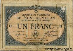 1 Franc FRANCE régionalisme et divers MONT-DE-MARSAN 1914 JP.082.05 TB