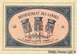 1 Franc FRANCE régionalisme et divers MONT-DE-MARSAN 1914 JP.082.07 SPL à NEUF