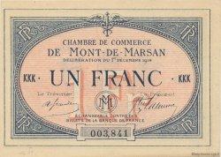 1 Franc FRANCE régionalisme et divers MONT-DE-MARSAN 1914 JP.082.08 SPL à NEUF