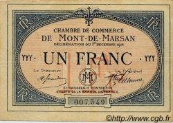 1 Franc FRANCE régionalisme et divers MONT-DE-MARSAN 1914 JP.082.08 TTB à SUP