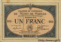 1 Franc FRANCE régionalisme et divers Mont-De-Marsan 1914 JP.082.16 TTB à SUP