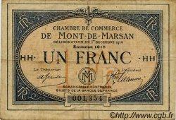 1 Franc FRANCE régionalisme et divers MONT-DE-MARSAN 1914 JP.082.16 TB