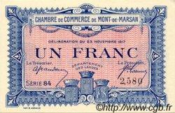 1 Franc FRANCE régionalisme et divers MONT-DE-MARSAN 1917 JP.082.28 SPL à NEUF
