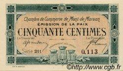 50 Centimes FRANCE régionalisme et divers MONT-DE-MARSAN 1918 JP.082.30 SPL à NEUF