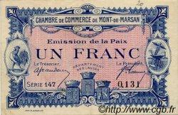 1 Franc FRANCE régionalisme et divers Mont-De-Marsan 1918 JP.082.32 TTB à SUP