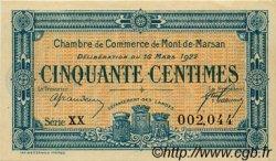 50 Centimes FRANCE régionalisme et divers Mont-De-Marsan 1922 JP.082.38 SPL à NEUF