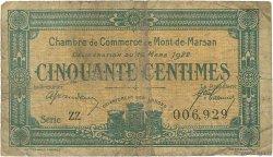 50 Centimes FRANCE régionalisme et divers Mont-De-Marsan 1922 JP.082.38 TB