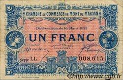 1 Franc FRANCE régionalisme et divers MONT-DE-MARSAN 1922 JP.082.41 TB