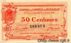 50 Centimes FRANCE régionalisme et divers MONTAUBAN 1914 JP.083.01 TTB à SUP