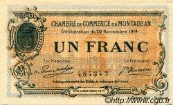 1 Franc FRANCE régionalisme et divers MONTAUBAN 1914 JP.083.06 TTB à SUP