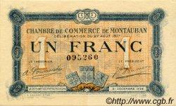 1 Franc FRANCE régionalisme et divers Montauban 1917 JP.083.15 TTB à SUP