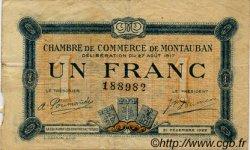 1 Franc FRANCE régionalisme et divers MONTAUBAN 1917 JP.083.15 TB