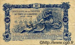 50 Centimes FRANCE régionalisme et divers MONTAUBAN 1921 JP.083.17