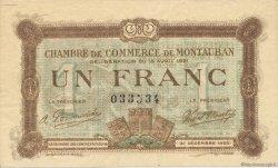 1 Franc FRANCE régionalisme et divers Montauban 1921 JP.083.19 SPL à NEUF