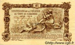1 Franc FRANCE régionalisme et divers MONTAUBAN 1921 JP.083.19 TTB à SUP