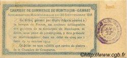 50 Centimes FRANCE régionalisme et divers MONTLUÇON, GANNAT 1914 JP.084.01 SPL à NEUF