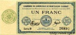1 Franc FRANCE régionalisme et divers Montluçon, Gannat 1914 JP.084.05 SPL à NEUF