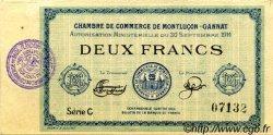 2 Francs FRANCE régionalisme et divers MONTLUÇON, GANNAT 1914 JP.084.09 SPL à NEUF