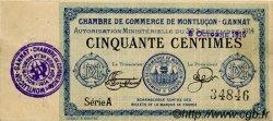 50 Centimes FRANCE régionalisme et divers MONTLUÇON, GANNAT 1915 JP.084.13 TTB à SUP