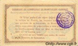 1 Franc FRANCE régionalisme et divers MONTLUÇON, GANNAT 1915 JP.084.15 TTB à SUP
