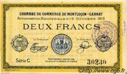 2 Francs FRANCE régionalisme et divers Montluçon, Gannat 1915 JP.084.18 TTB à SUP