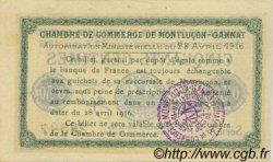 50 Centimes FRANCE régionalisme et divers MONTLUÇON, GANNAT 1916 JP.084.21 SPL à NEUF