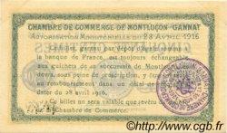 50 Centimes FRANCE régionalisme et divers Montluçon, Gannat 1916 JP.084.21 TTB à SUP