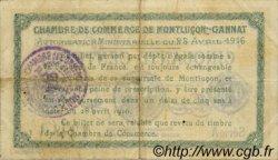 50 Centimes FRANCE régionalisme et divers MONTLUÇON, GANNAT 1916 JP.084.21 TB