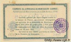 2 Francs FRANCE régionalisme et divers MONTLUÇON, GANNAT 1916 JP.084.26 TTB à SUP