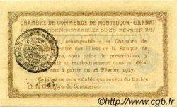 50 Centimes FRANCE régionalisme et divers MONTLUÇON, GANNAT 1917 JP.084.28 SPL à NEUF