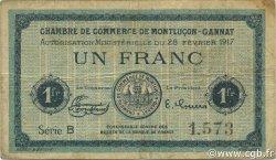 1 Franc FRANCE régionalisme et divers Montluçon, Gannat 1917 JP.084.31 TB