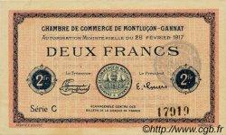 2 Francs FRANCE régionalisme et divers Montluçon, Gannat 1917 JP.084.33 SPL à NEUF