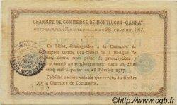 2 Francs FRANCE régionalisme et divers Montluçon, Gannat 1917 JP.084.33 TTB à SUP