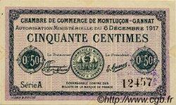 50 Centimes FRANCE régionalisme et divers Montluçon, Gannat 1917 JP.084.35 TTB à SUP