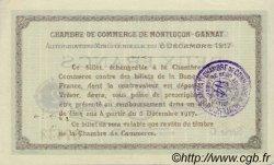 2 Francs FRANCE régionalisme et divers Montluçon, Gannat 1917 JP.084.39 TTB à SUP