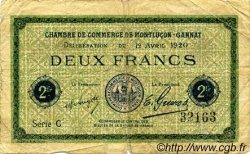 2 Francs FRANCE régionalisme et divers MONTLUÇON, GANNAT 1920 JP.084.54 TB