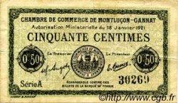 50 Centimes FRANCE régionalisme et divers Montluçon, Gannat 1921 JP.084.56 TB
