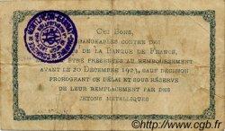1 Franc FRANCE régionalisme et divers Montluçon, Gannat 1921 JP.084.58 TB