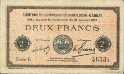 2 Francs FRANCE régionalisme et divers Montluçon, Gannat 1921 JP.084.60 TTB à SUP