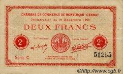 2 Francs FRANCE régionalisme et divers MONTLUÇON, GANNAT 1921 JP.084.65 TB