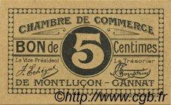 5 Centimes FRANCE régionalisme et divers Montluçon, Gannat 1918 JP.084.66 SPL à NEUF