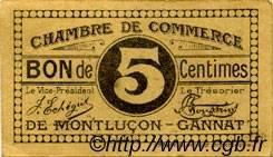 5 Centimes FRANCE régionalisme et divers Montluçon, Gannat 1918 JP.084.66 TTB à SUP