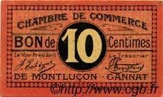 10 Centimes FRANCE régionalisme et divers Montluçon, Gannat 1918 JP.084.67 TTB à SUP