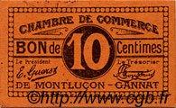 10 Centimes FRANCE régionalisme et divers Montluçon, Gannat 1918 JP.084.73 TTB à SUP