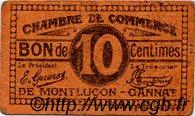 10 Centimes FRANCE régionalisme et divers Montluçon, Gannat 1918 JP.084.73 TB