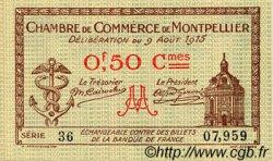 50 Centimes FRANCE régionalisme et divers MONTPELLIER 1915 JP.085.01 SPL à NEUF